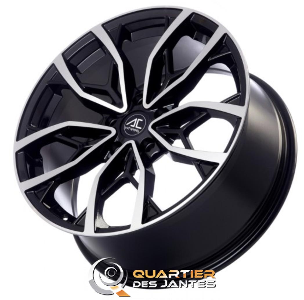 jante ac wheels vertu 17 face polie noir 5x112 jantes. Black Bedroom Furniture Sets. Home Design Ideas